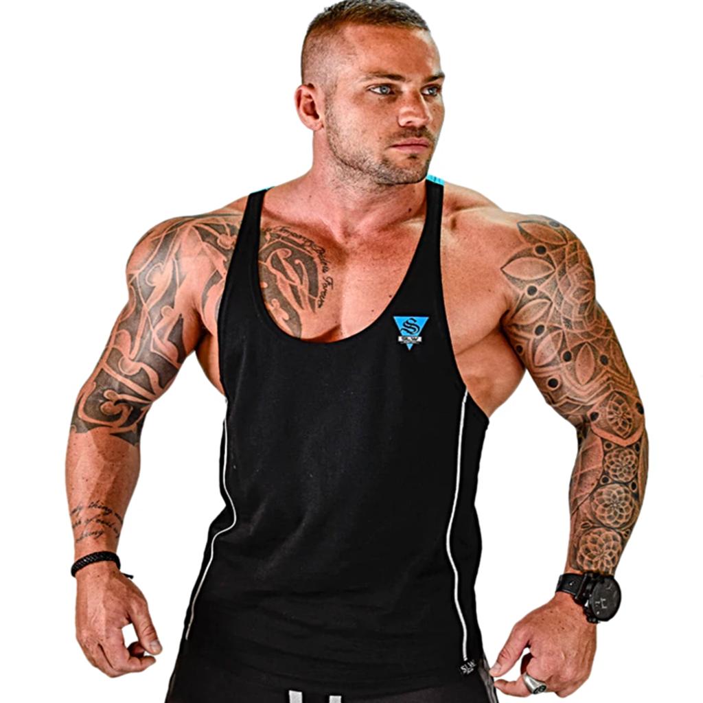Men/'s Tank Top Fitness Bodybuilding Shirt Muscle War Weightlifting