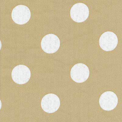 Image Of FF Tan And White Polka Dot Outdoor Fabric Sunbrella $12 A Yard