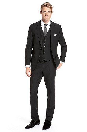 81c26ea9 Hugo Boss 'The James/Sharp' 3-Piece Suit, Black. Absolutely beautiful!