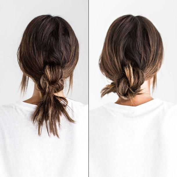 Frisur lange haare knoten