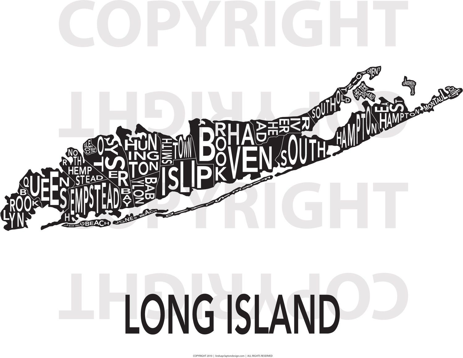 Outline Map Of Long Island With Long