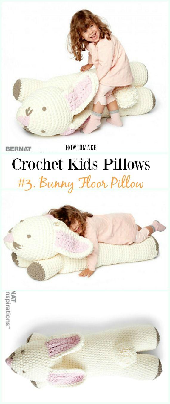 Fun Crochet Kids Pillows Free Patterns | Tejido, Ganchillo y ...