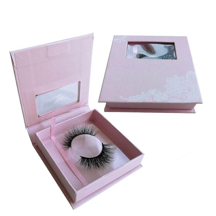 1122e8ec6af Wholesale Private Label Custom Mink Magnetic Square Eyelash Packaging Box