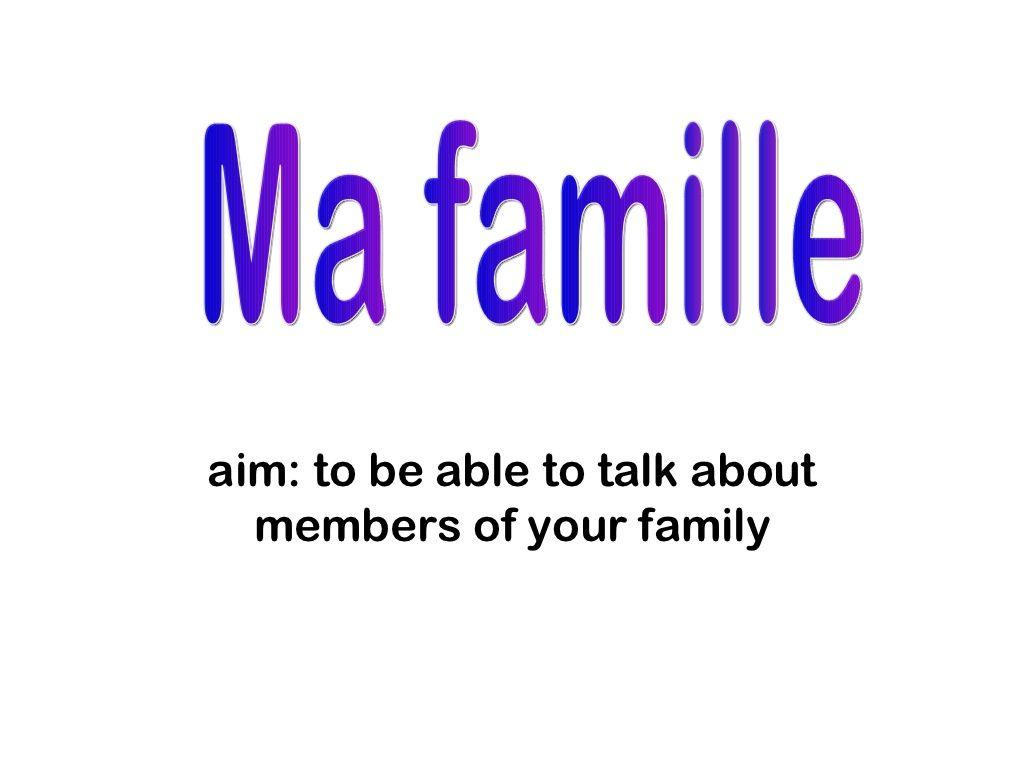 Ma Famille By Mokingsbury Via Slideshare