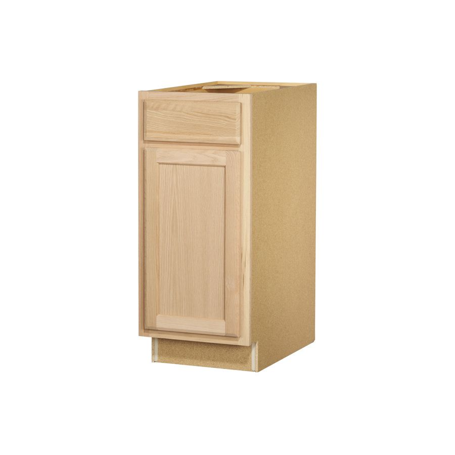 Project Source 15 In W X 35 In H X 23 75 In D Unfinished Door And Drawer Base Cabinet Unfinished Kitchen Cabinets Kitchen Base Cabinets Base Cabinets