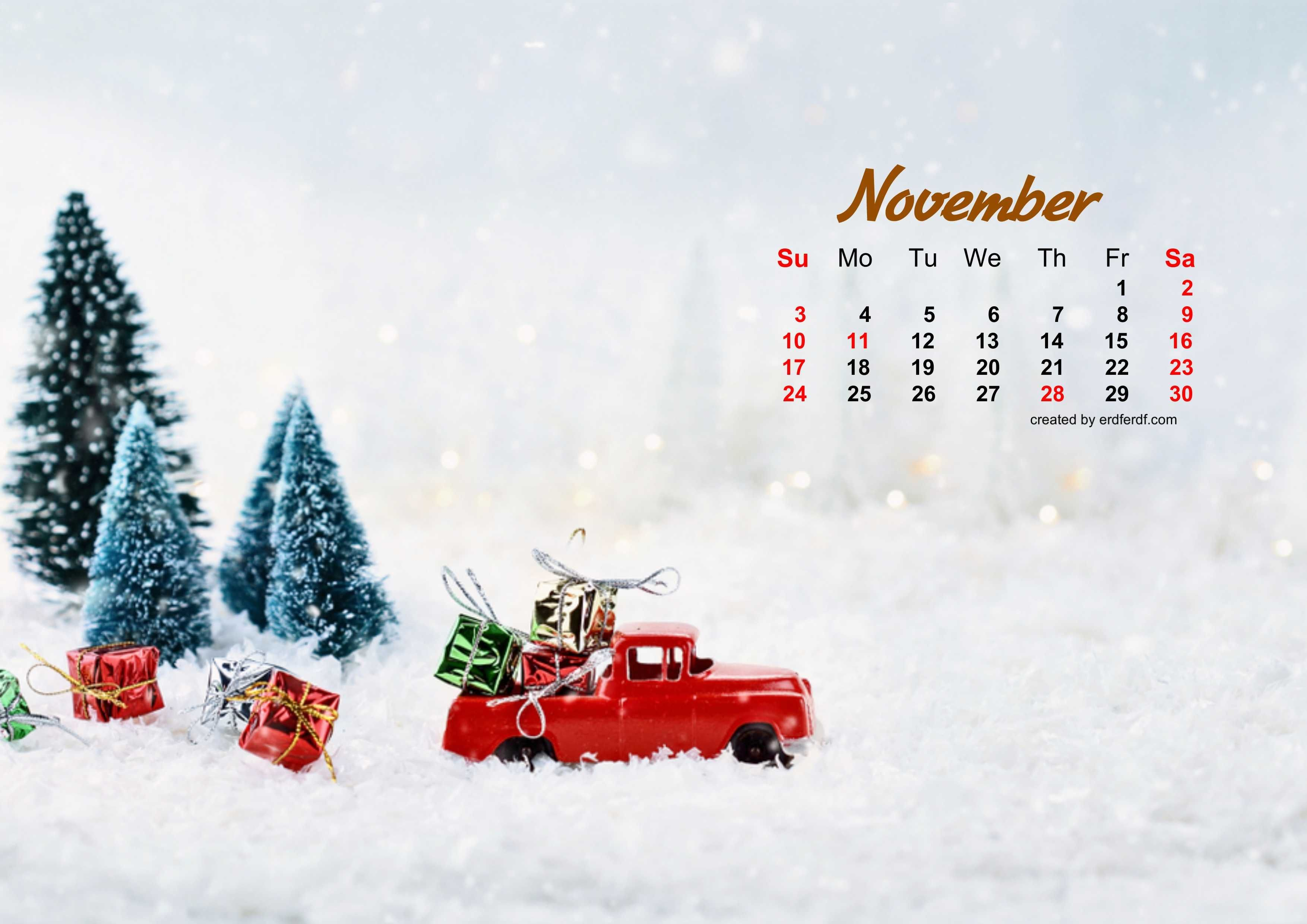 Mini Car December 2019 Desktop Calendar Wallpaper