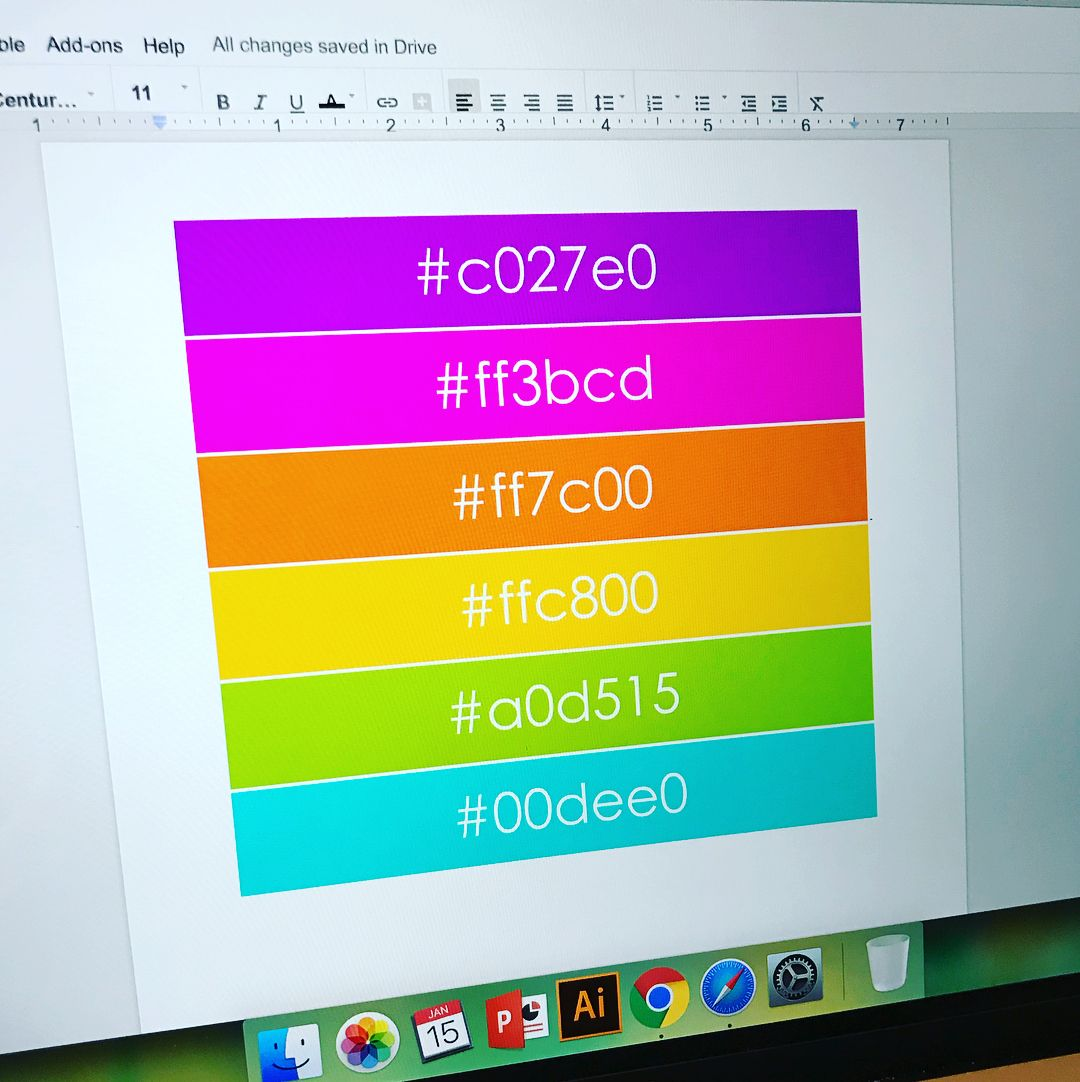 Did you know you can use custom colors in google docs