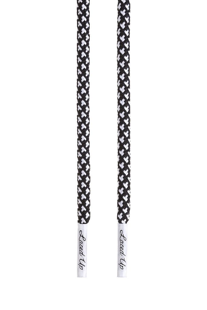Blackwhite rope laces   White rope, Plastic lace, Black rope