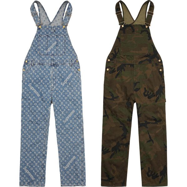f98bec85410 Supreme Louis Vuitton/Supreme Jacquard Denim Overalls ❤ liked on Polyvore  featuring jumpsuits, bib overalls, denim overalls, denim jumpsuit, louis  vuitton ...