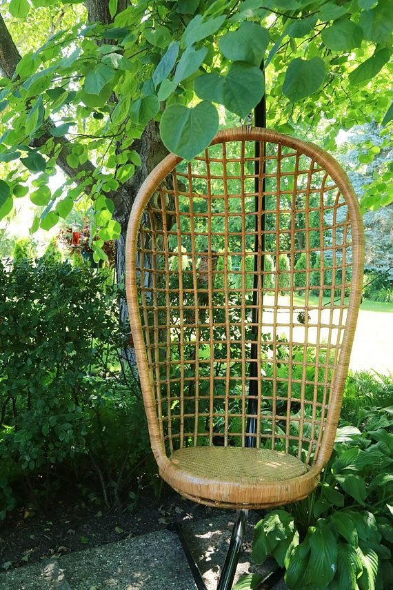 Swing Chair Local Revolving Spare Parts Shipping Not Free Vintage Bamboo Rattan Hanging Egg No Stand Pick Up Chic