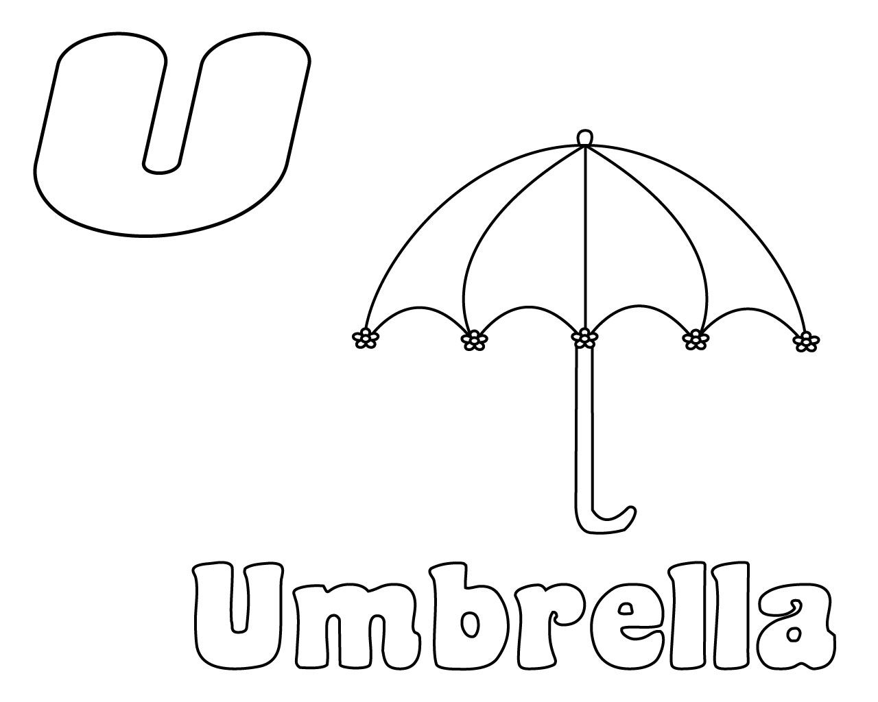 Letter U Coloring Pages Preschool Coloring pages, Free