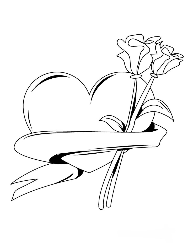 Dia Dos Namorados Desenhos Colorir Pintar Imprimir 05 Flores
