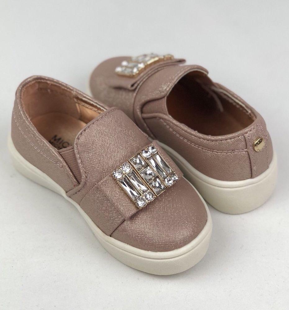 29401c906757 Michael Kors Ivy Cara Slip On Shoes 7M Rose Gold Toddler Girl Sneakers