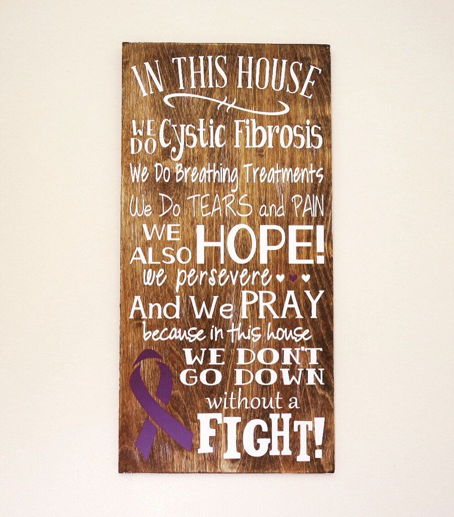 In this house we do cystic fibrosis wooden sign cystic fibrosis in this house we do cystic fibrosis wooden sign cystic fibrosis sign home buycottarizona