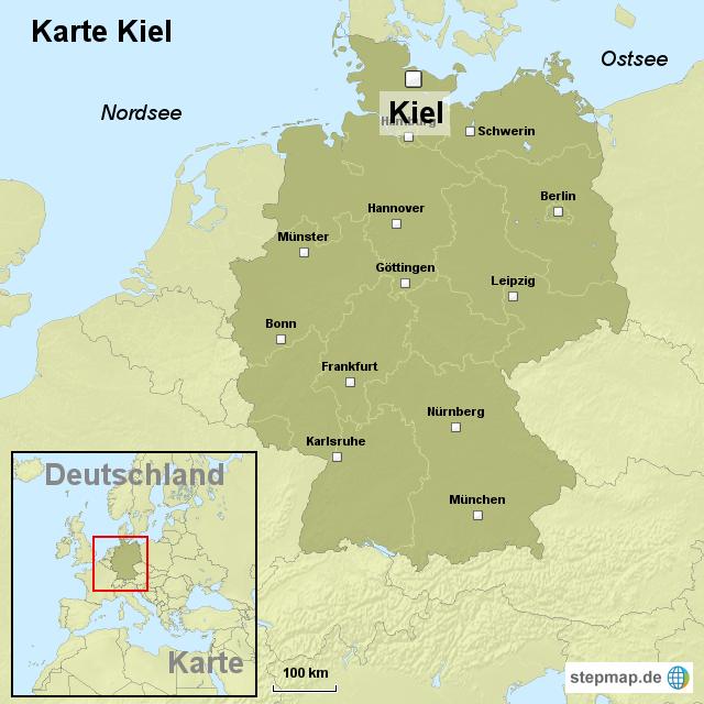 kiel landkarte deutschland kiel karte deutschland #deutschland #karte | Karte deutschland