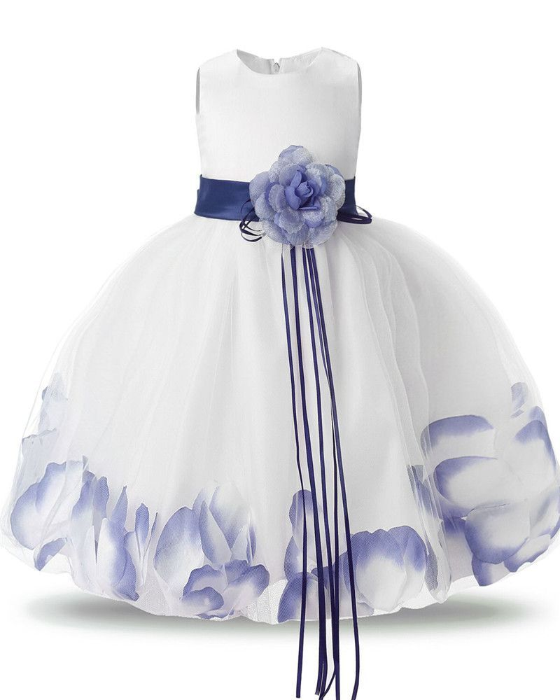 Fairy Baby Girl Floral Dress Fluffy Tulle Wedding Bridal Gown Dresses For Girls Kids Prom Party Wear