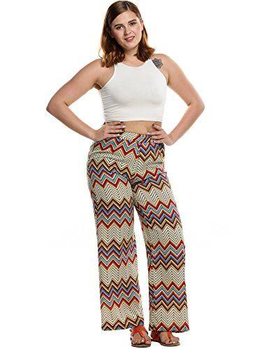 2b37422081f04 British Fashion Bug Womens Plus Size Casual Printed Palazzo Wide Leg Pants   British  UK  FashionBug  PlusSize  Pants  Capris  Curvy