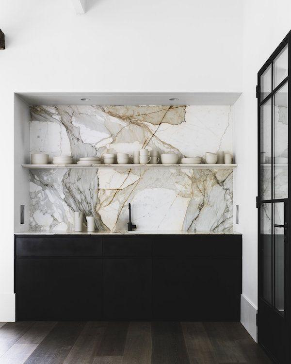 Credence En Marbre Meubles Noirs Deco Deco Maison Et