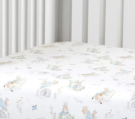 Peter Rabbit Organic Crib Fitted Sheet Pottery Barn