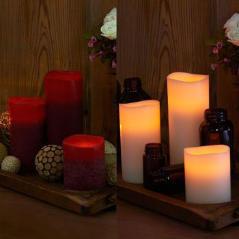 Flameless Candles Costco Amusing Costco Smart Candle Energizer® 6Pack Ivoryburgundy Flameless Decorating Inspiration