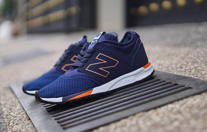 Jual Sepatu New Balance 247 Revlite Navy Orange Man Vietnam Shoes