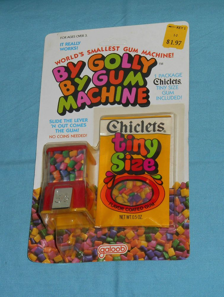 vintage Galoob CHICLETS TINY SIZE BY GOLLY BY GUM MACHINE mini ...