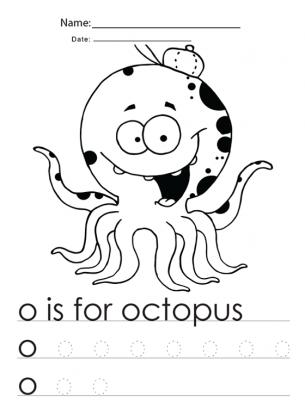 Kindergarten Worksheets Octopus | Free Printable Worksheets ...