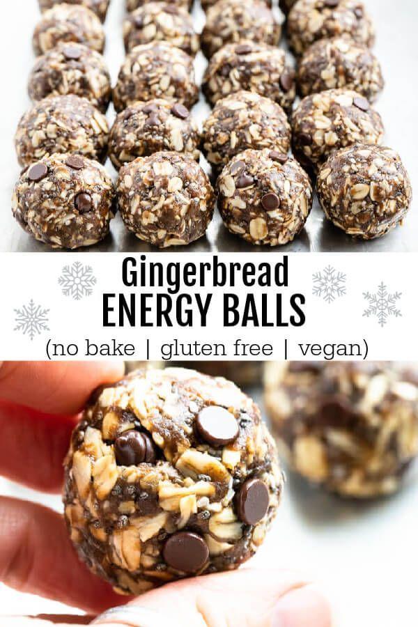 Gingerbread Energy Balls No Bake Gluten Free Vegan Savory Lotus Recipe Paleo Recipes Dessert Dairy Free Dessert Food