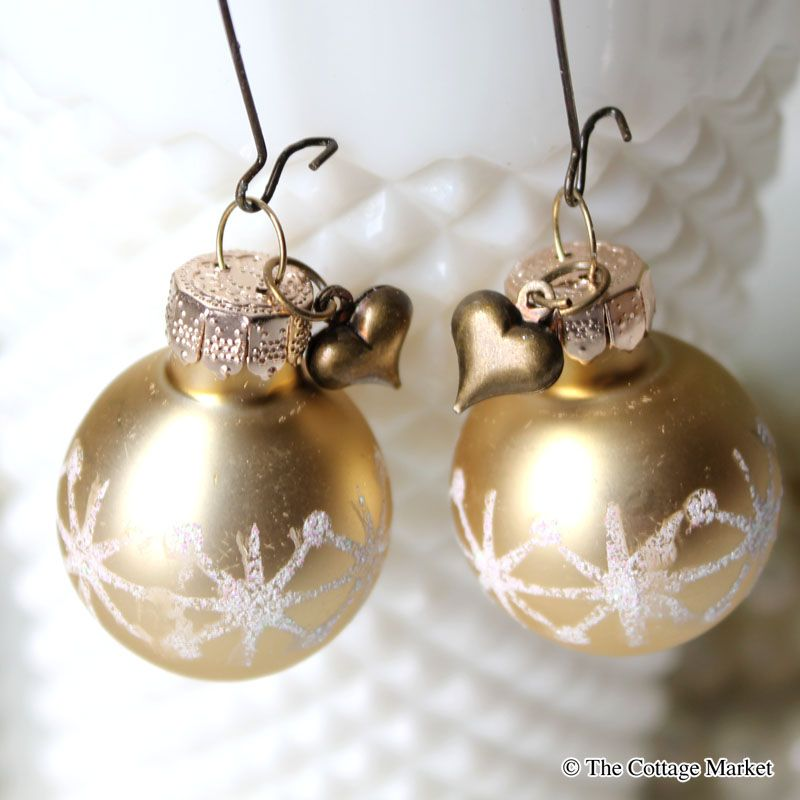 Dollar Store Decorating: Mini Christmas Ball Earrings | Pinterest ...