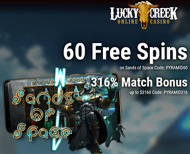 Lucky Creek Launched Their New Game Sands Of Space Get 60 Free