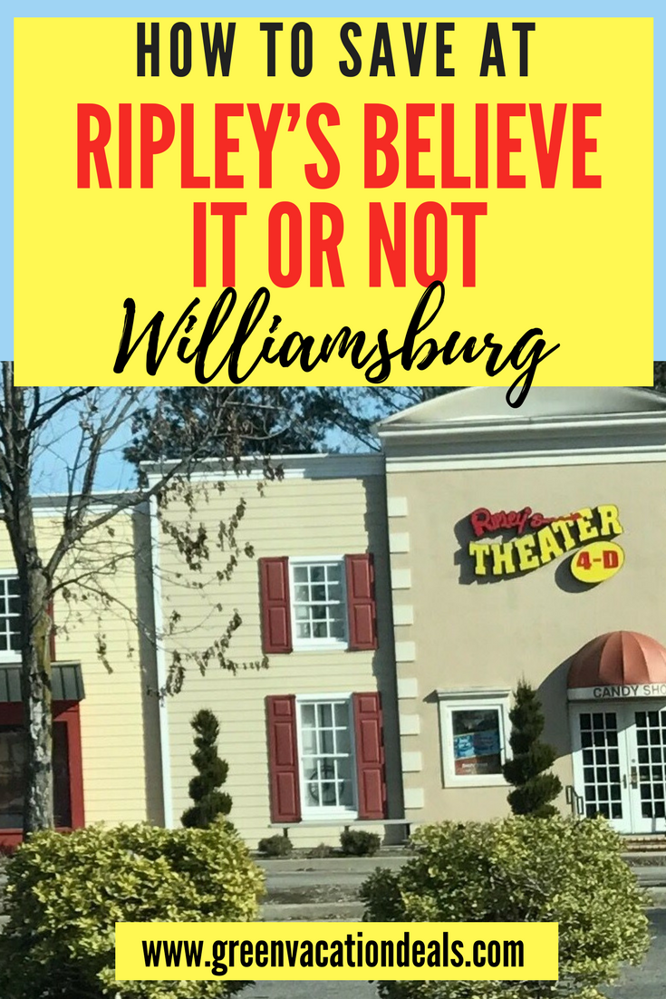 Enjoy 4-D movies, racing through lasers & more than 350 exhibits & artifacts at Ripley's Believe It or Not! in #Williamsburg part of Historic Triangle area of Virginia with #Jamestown & #Yorktown near Colonial Williamsburg & Busch Gardens short #trip from #Raleigh or #WashingtonDC great family activity. Save money with discount admission #travel #summervacation #familyvacay #familyfriendly #kidfriendly #funwithchildren #funwithfamily #familytime #travelhacks #Ripleys #fun #traveldeal #traveling