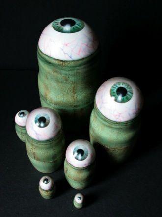 Eyeball Nesting Dolls - creeepy!