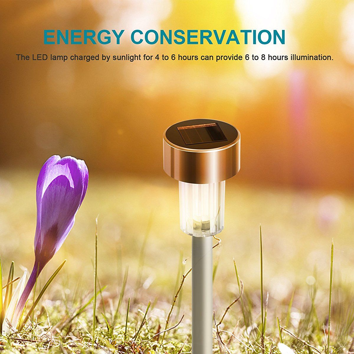 LOT Solar LED Pathway Outdoor Stainless Steel LED Solar Step Light Home Garden M