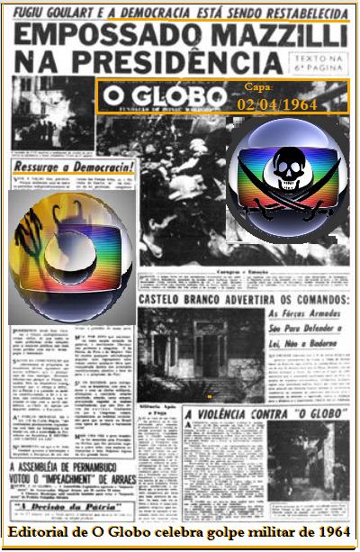 Resultado de imagem para capa do globo 1964 dia do golpe
