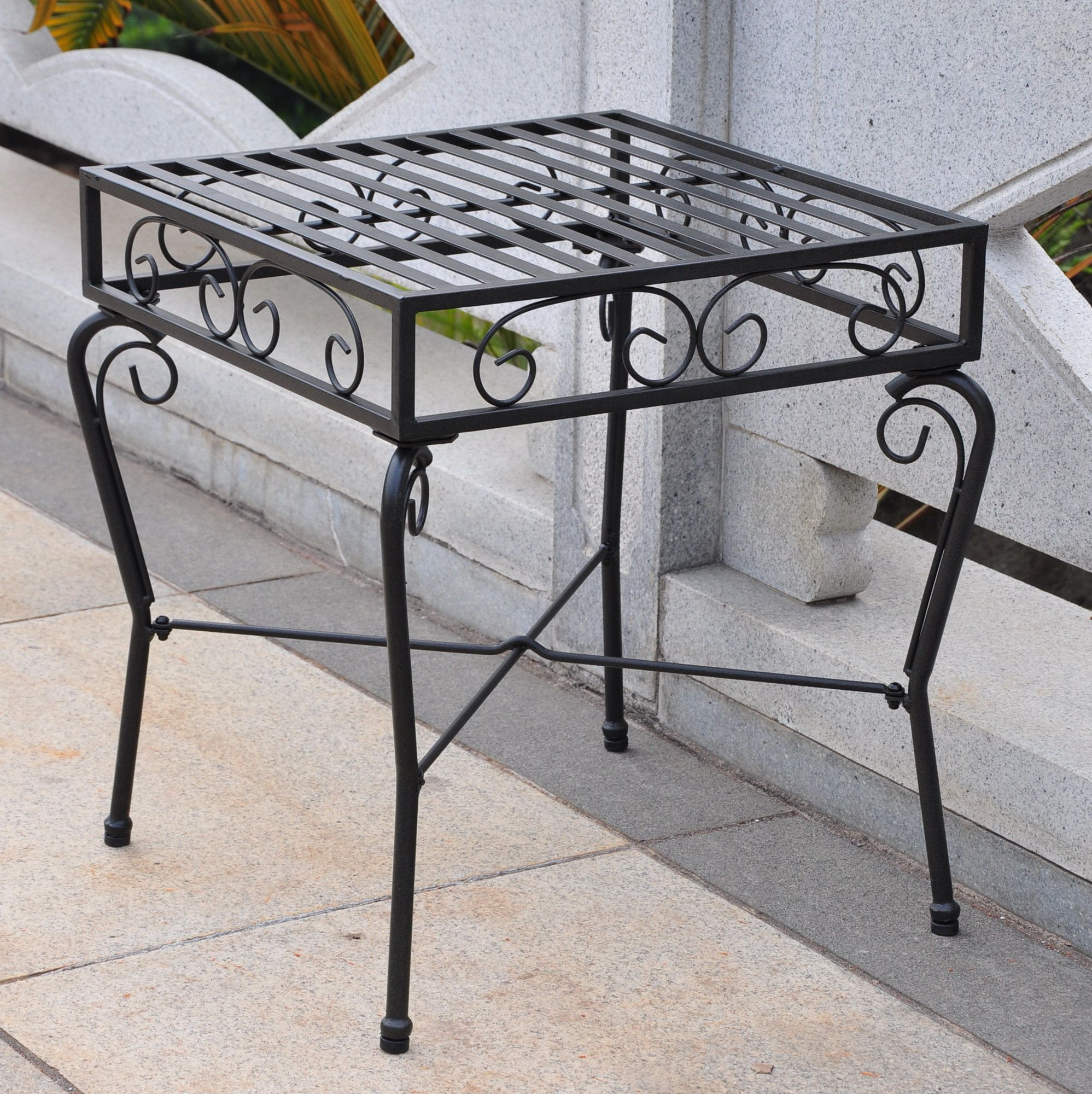 metal table side adorable furniture amazing of patio