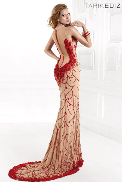 Вечерние платья фото красного цвета
