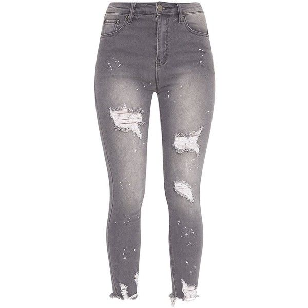 popular design speical offer diverse styles Light Wash Bleach Splatter Distress High Waisted Skinny Jean ...