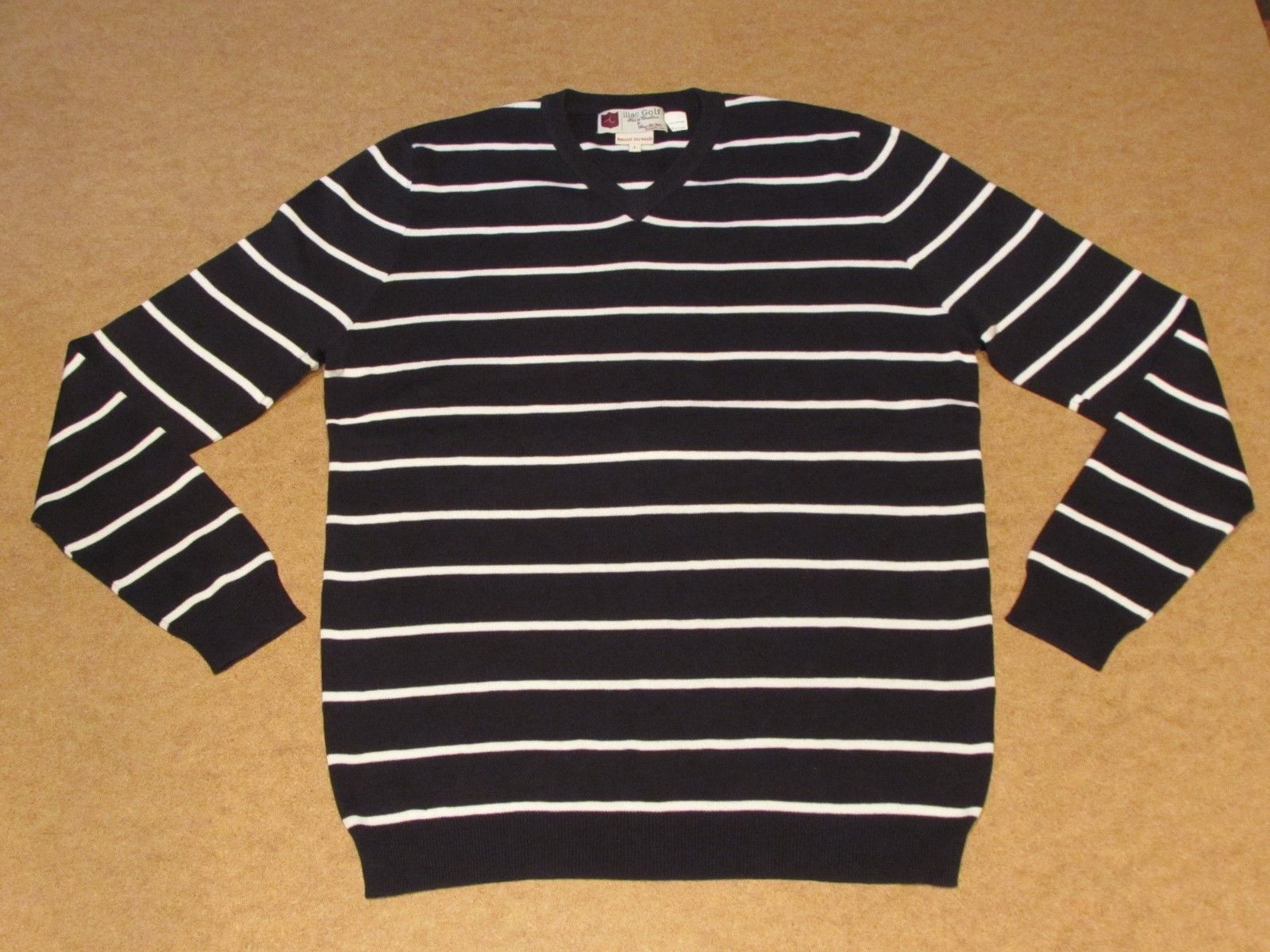 ILIAC GOLF MEN'S BLUE WHITE STRIPED SWEATER....On sale in our ...