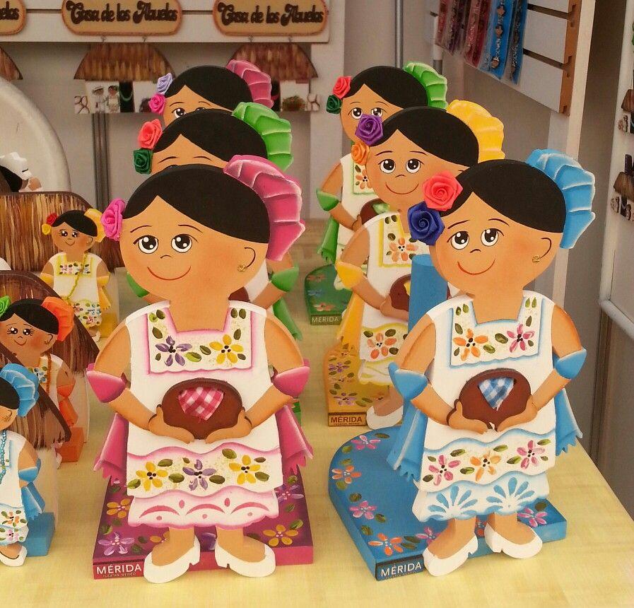 Hermosas Mestizas De Yucatan Fiesta Yucateca Manualidades Mestiza Yucateca