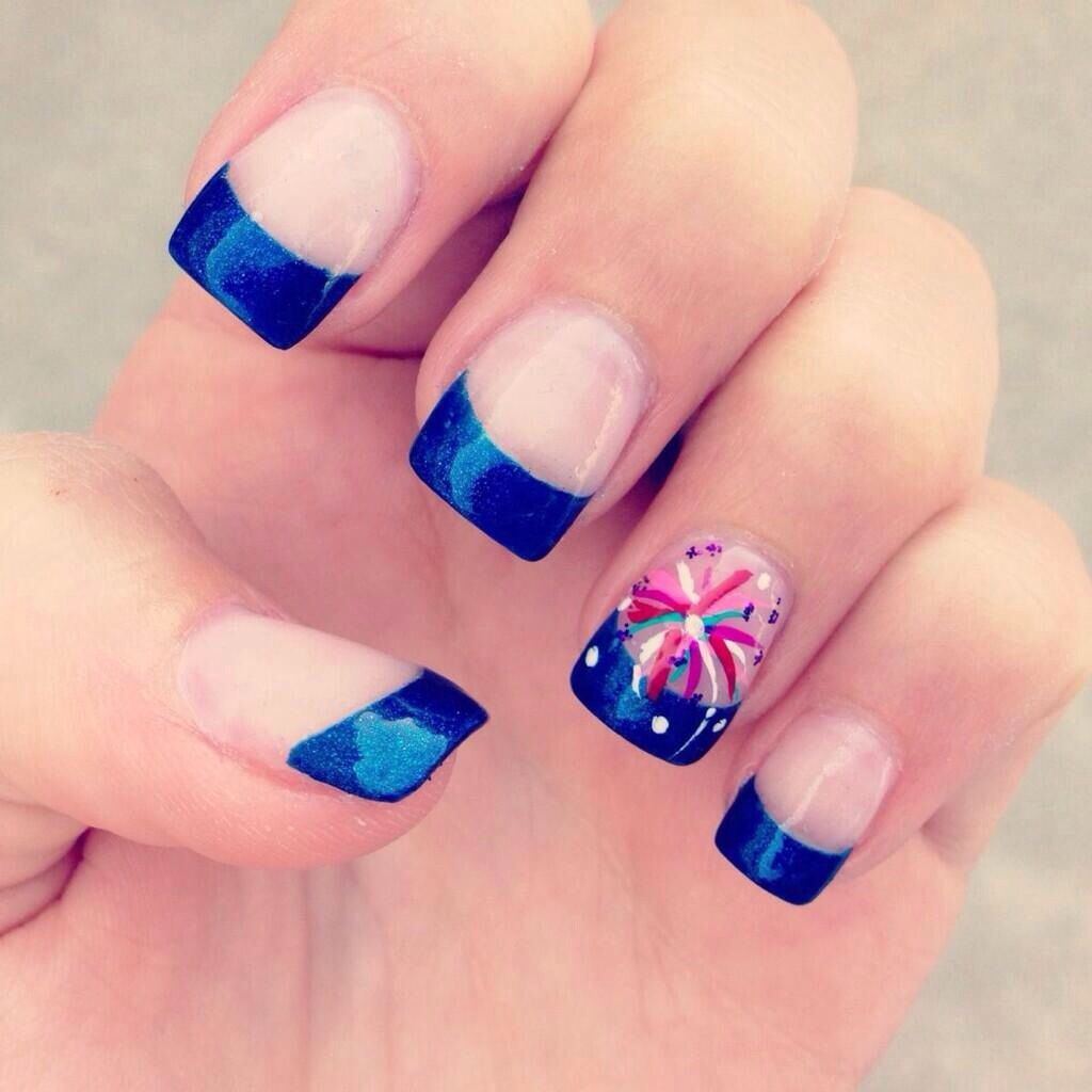 Pin by lindsey king on hair beauty pinterest holiday nail fourth of july nails firework prinsesfo Gallery