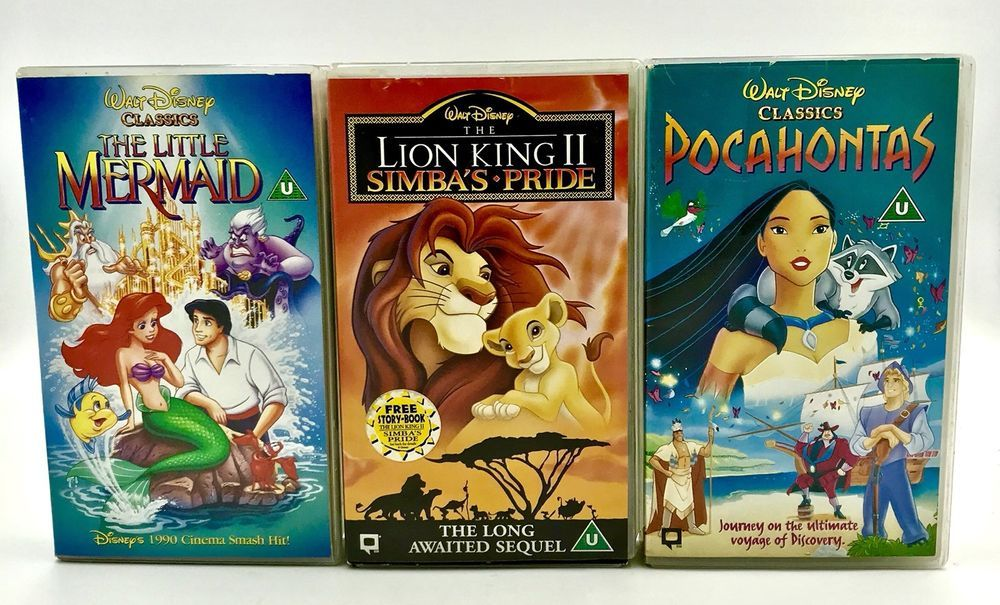 Vhs Tapes Bundle The Little Mermaid Pocahontas And The Lion King 2 Simbas Pride Lion King 2 Lion King The Little Mermaid
