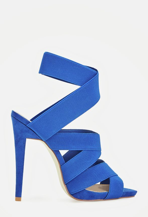 0ccfa91017c Emerie in Cobalt - Get great deals at JustFab. Say hello to the most  comfortable strappy heels yet! The elastic straps make for a longwearing  style that ...