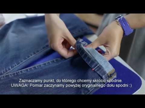 Z kamerą przez szycie - Skracanie spodni przy użyciu maszyny Brother HF37 - YouTube