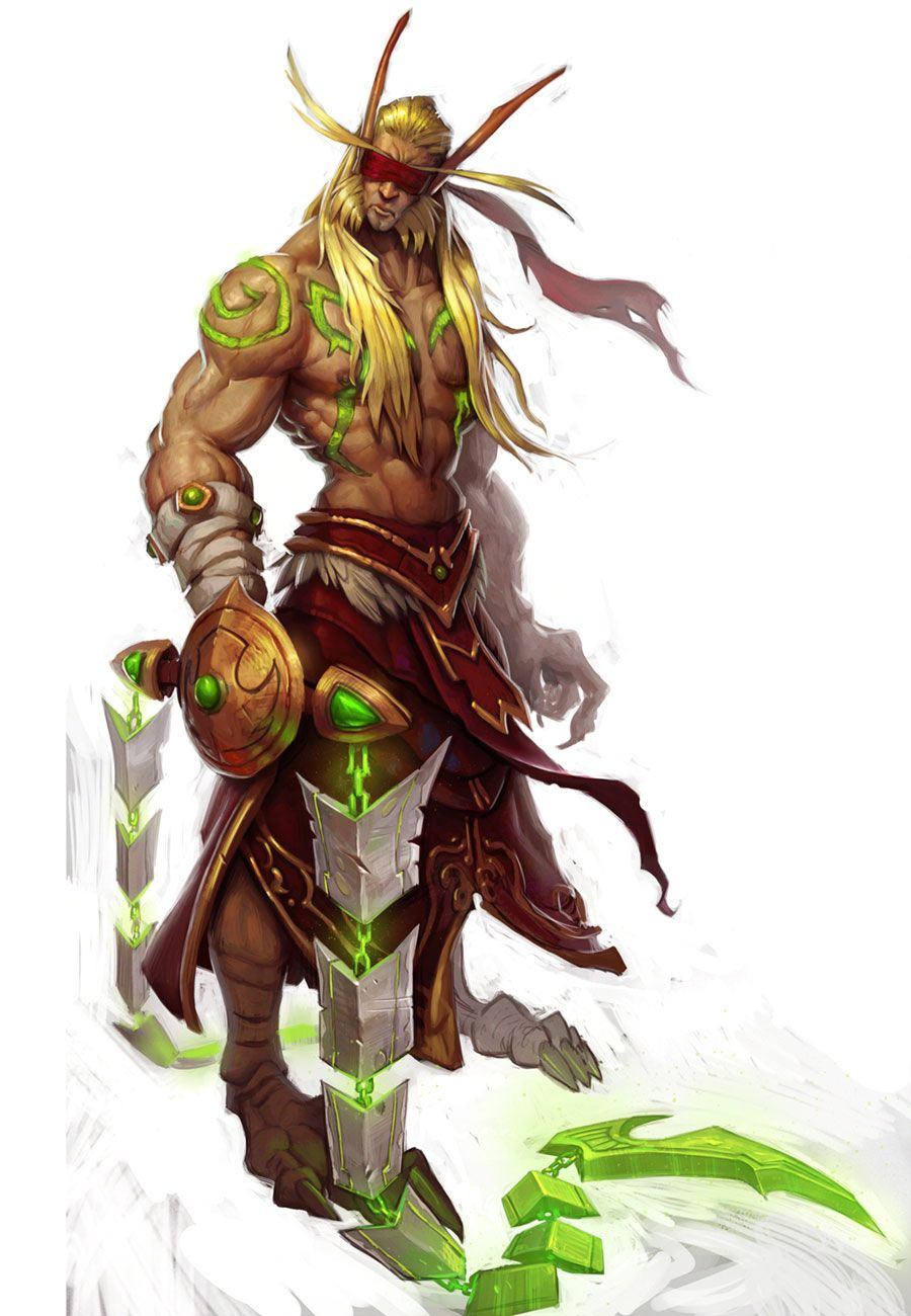 Male Blood Elf Demon Hunter World of Warcraft - use this contrast with caution