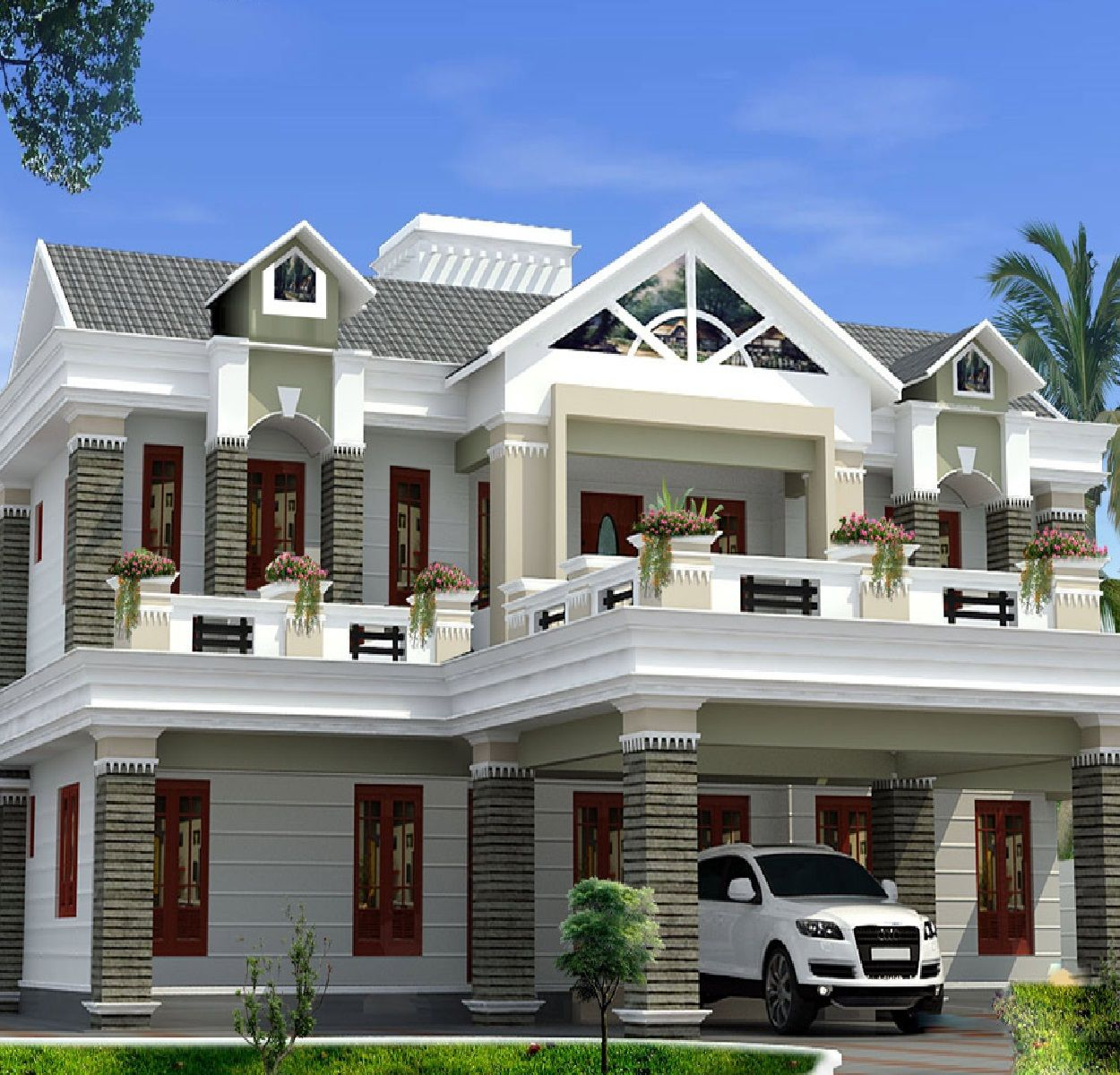 Luxury Home Kerala House Design Luxury House Plans House Architecture Design