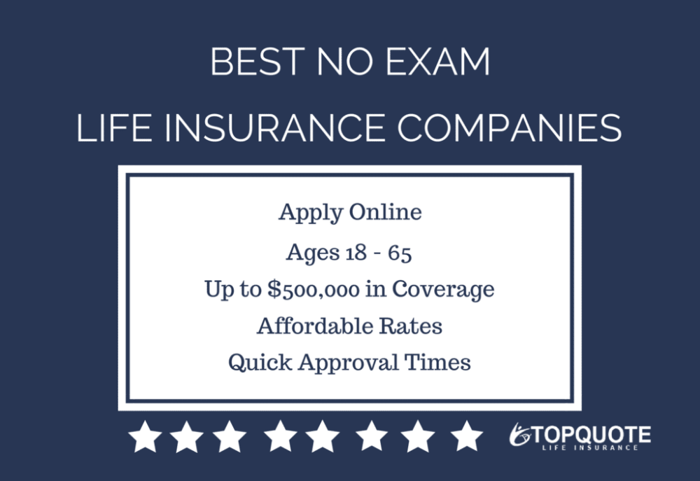 2019 list of best instant approval no exam life insurance