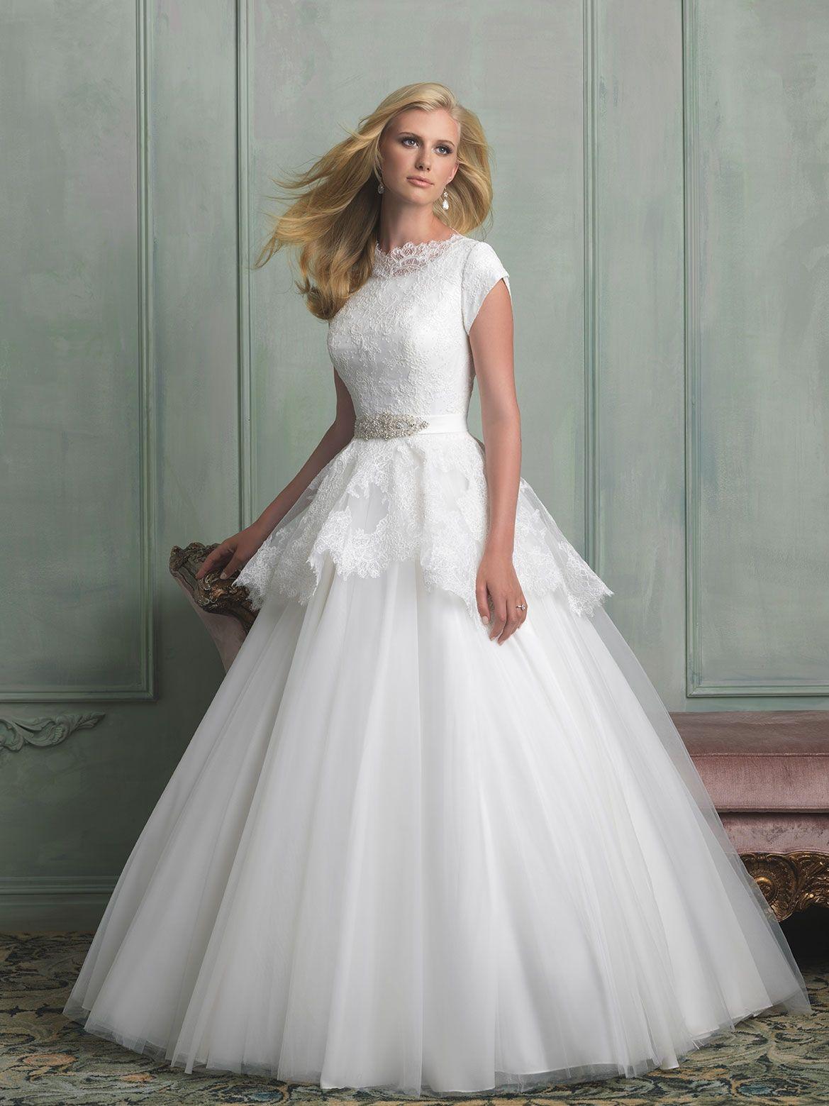 Allure Bridals Style M  Wedding dresses  Pinterest  Modest