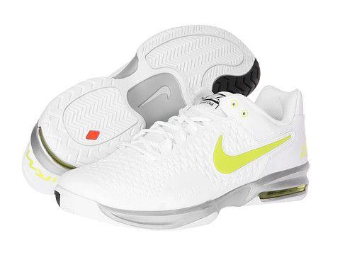 more photos 64931 28eb8 Nike Air Max Cage White Metallic Silver Black Venom Green - Zappos.com Free  Shipping BOTH Ways