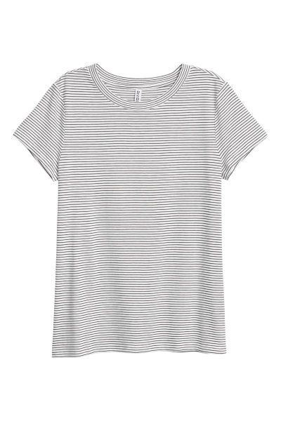 f7c656724ba T-shirt | Natural white/Striped | LADIES | H&M AU | Yaya's Menagerie ...
