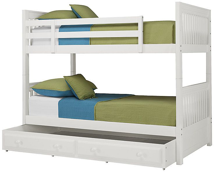 Lauren White Trundle Bunk Bed Bunk Bed With Trundle Bunk Bed Designs Bunk Beds